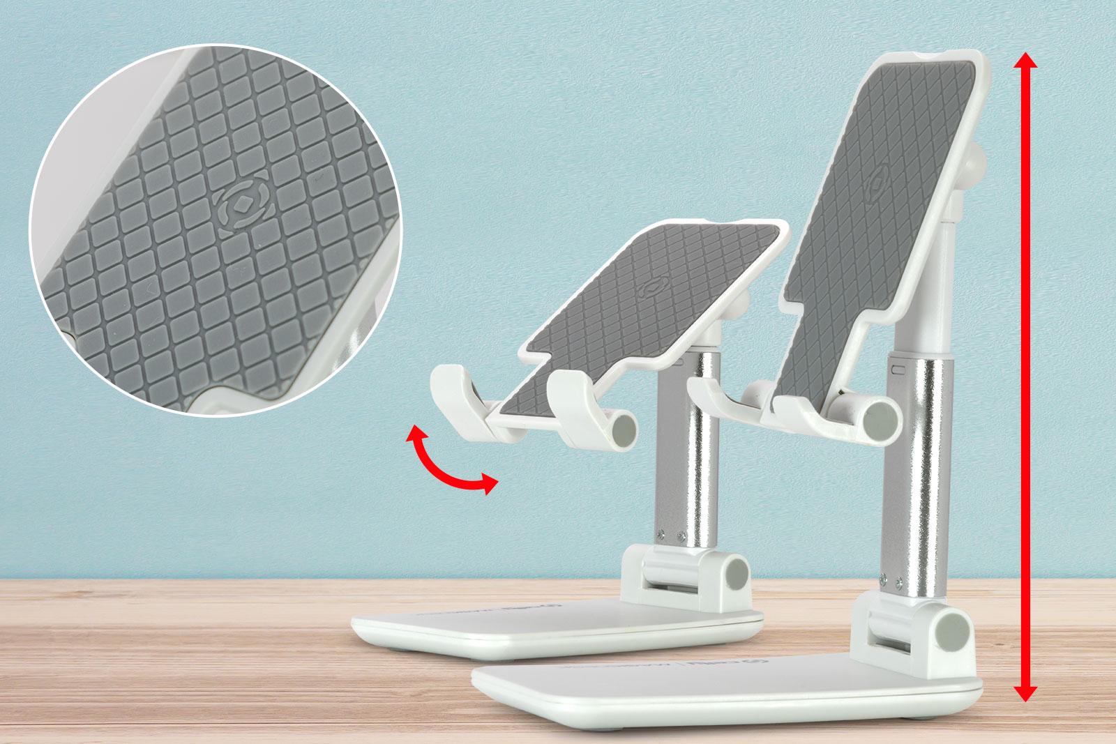 デバイスの高さと角度を調整できる実用的なエクステンダブル・アーム